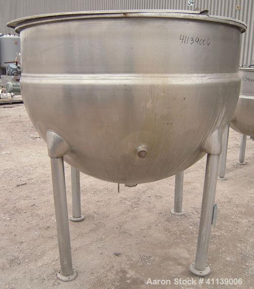 "Used- Hamilton Kettle, 500 Gallon, Style SA, 316  Stainless Steel, Vertical. 66"" diameter x approximately 47"" deep. Flat top..."