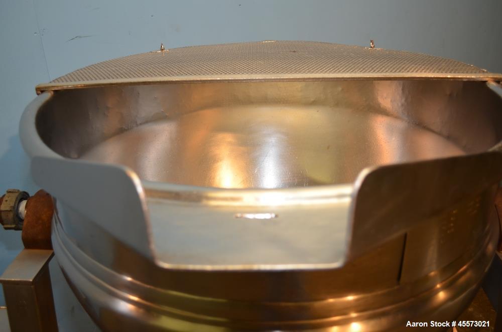 Used- 80 Gallon Stainless Steel Hamilton Tilting Kettle.