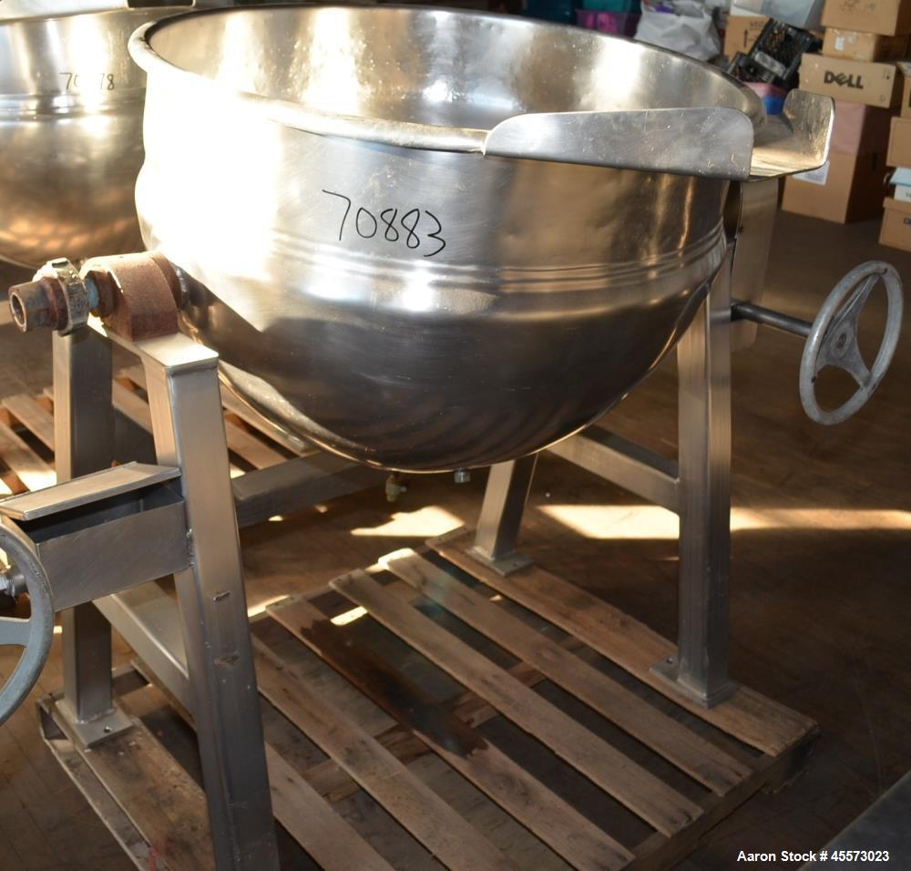 Used- 80 Gallon Stainless Steel Hamilton Tilting Kettle