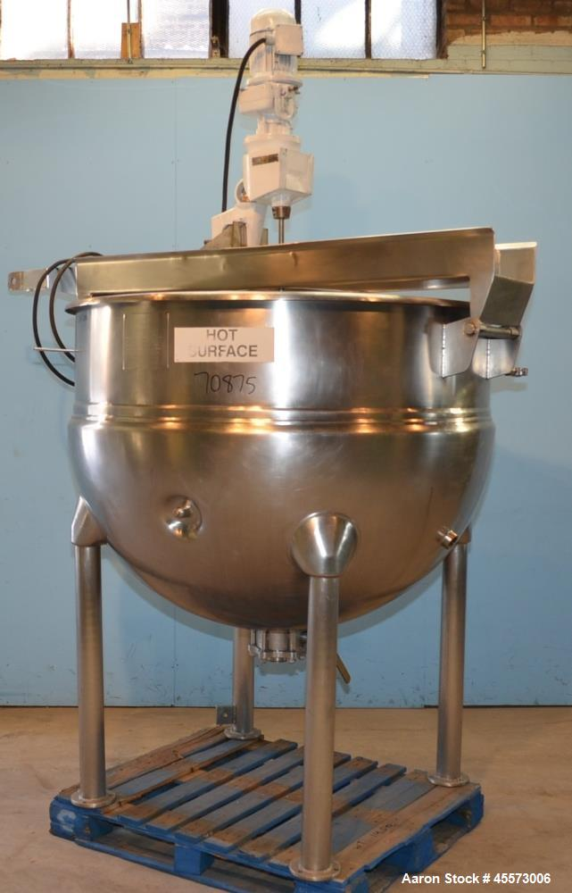 Used- 300 Gallon Stainless Steel Hamilton Jacketed Sweep Scrape Kettle, Model SA