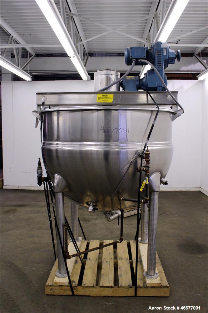 Used- Hamilton Kettle, Model SA, 300 Gallon, 304 Stainless Steel, Vertical.
