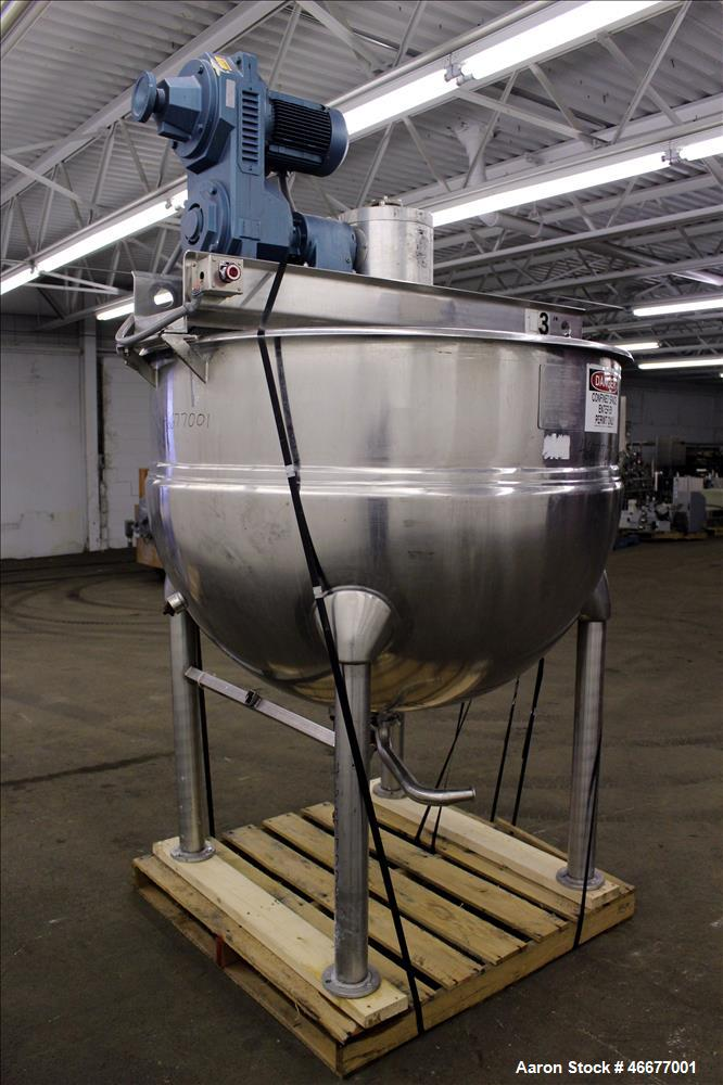 Used- Hamilton Kettle, Model SA, 300 Gallon, 304 Stainless Steel, Vertical.