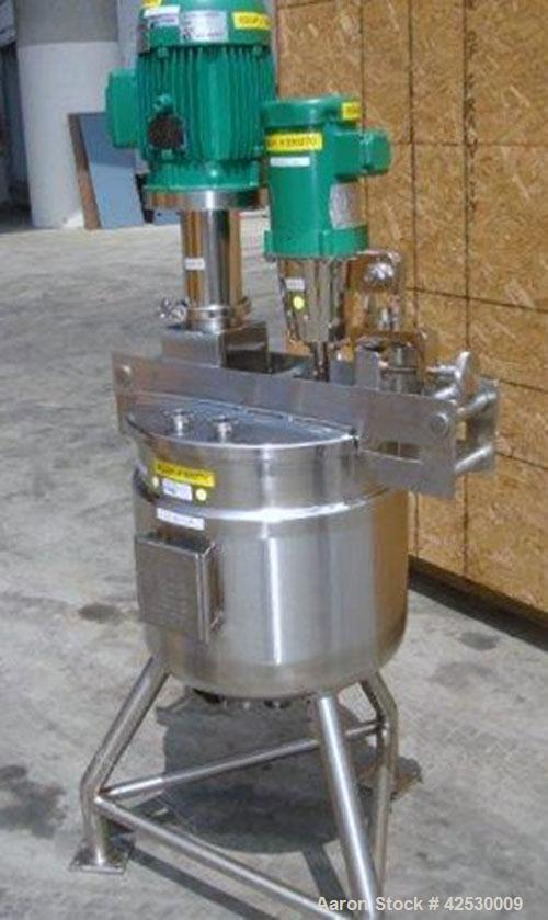 Used- InoxIndustries Kettle,20 Gallon, Stainless Steel, Vertical.Top cover, dished bottom. Internal rated atmospheric at ...