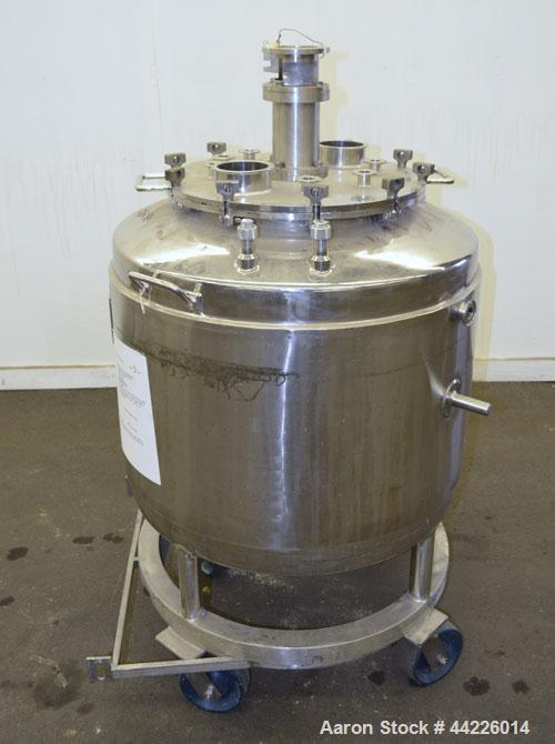 "Used- Inox Industries Kettle, 79.2 Gallon (300 Liter), 316L Stainless Steel, Vertical. Approximate 30"" diameter x 21"" straig..."