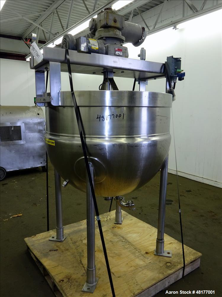 Used- J.C. Pardo & Sons Inc. Kettle, 150 Gallon, 316 Stainless Steel, Vertical