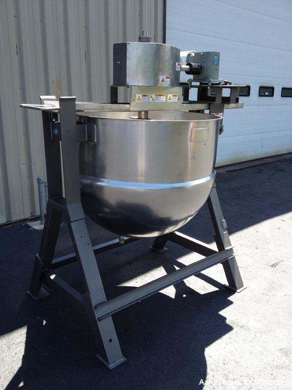 Used- Lee Kettle, 150 Gallon, Model 150D, Jacketed, agitated.