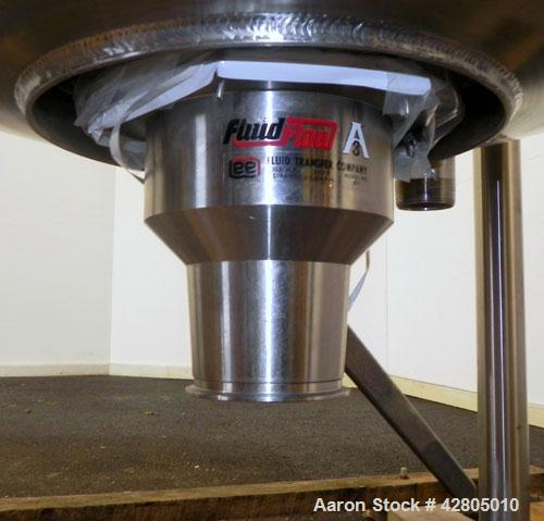 Used- Lee Industries Double Motion Counter-Rotating Scraper Agitated Kettle, 1,000 Gallon, Model 1000D9MS, 316 Stainless Ste...