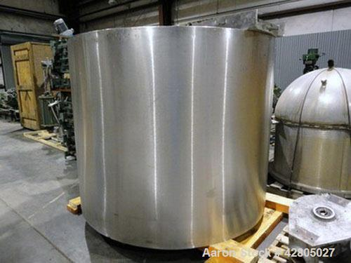 Used- Lee 1,000 Gallon Double Motion Counter-Rotating Scraper Agitated Jacketed 316 Stainless Steel Kettle, Model 1000U12S. ...