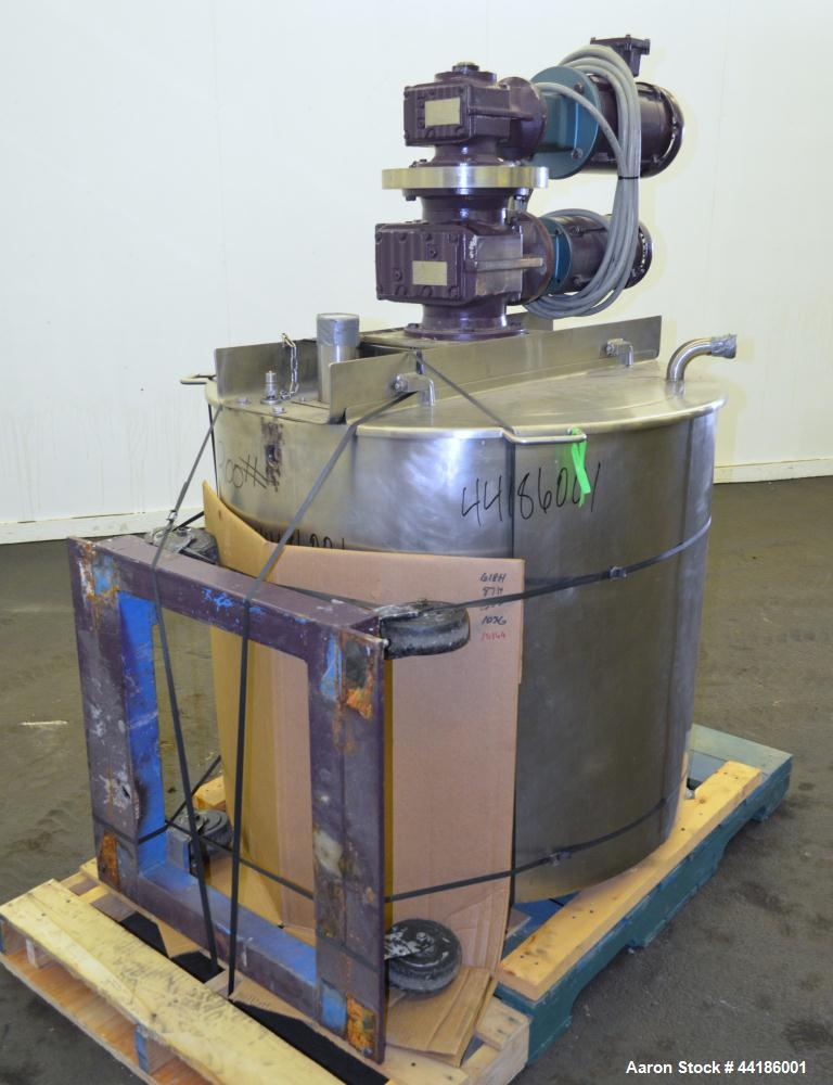 """Used- Lee Industries Double Motion Kettle, Model 125D9MS, 125 Gallon, 316 Stainless Steel. Approximately 38"""" diameter x 38"""" ..."""