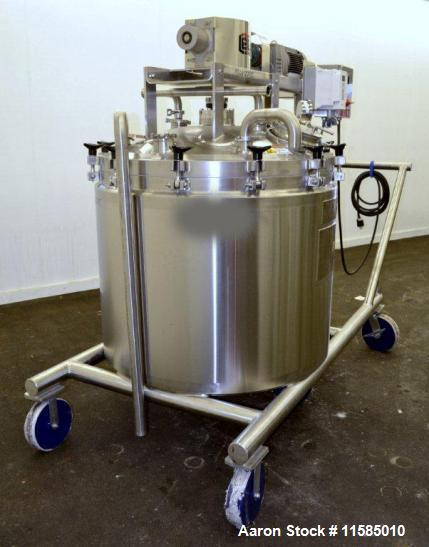 "Used-150 Gallon Lee Double Motion Vacuum Kettle, Model 150D9MT.  316L Stainless steel construction, 42"" diameter x 34"" deep,..."