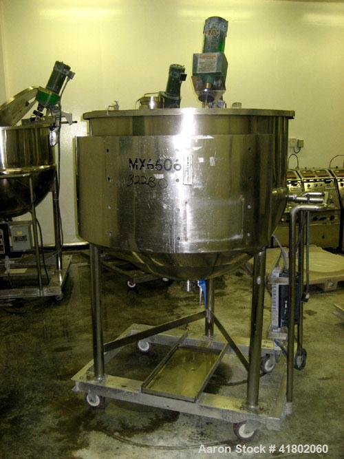 "Used- Lee Industries Kettle, 150 Gallon, Model 150D, Stainless Steel, Vertical. 42"" diameter x approximately 34"" deep. Open ..."