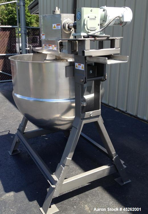 Used- Lee Industries Agitated and Steam Jacketed Kettle