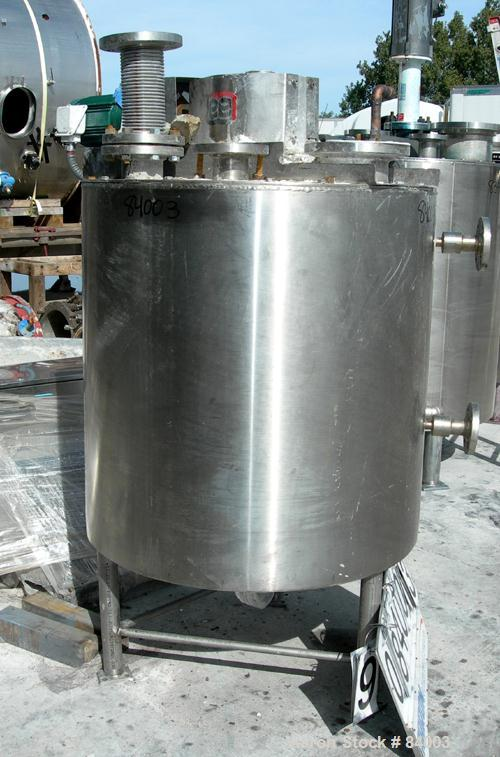 "USED: Lee Industries Processor/Kettle, 150 gallon, 304 stainless steel, vertical. 36"" diameter x 36"" straight side. Flat bol..."