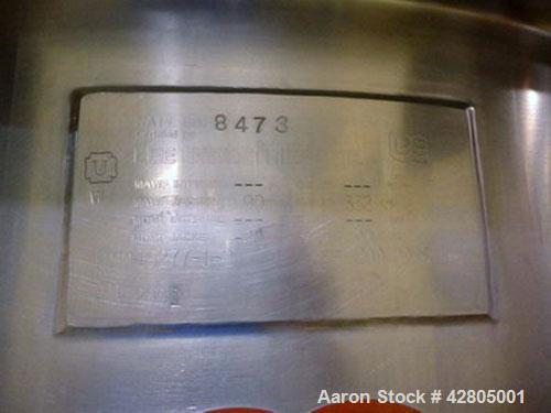 Used- Lee Inclined Double Motion Kettle, 200 Gallon, Model 200D9MS, Stainless Steel. 48'' Diameter x 41'' deep. Center botto...