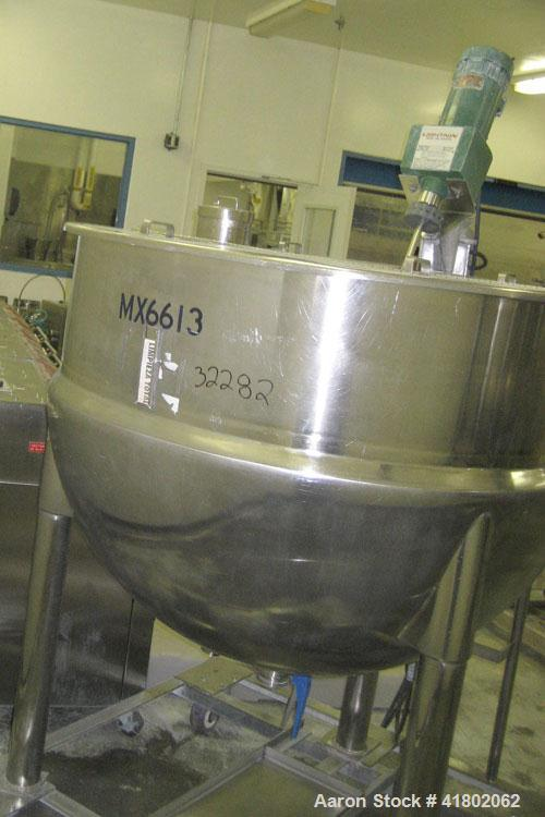 """Used- Lee Industries Kettle, 200 Gallon, Model 200D, Stainless Steel, Vertical. 48"""" diameter x approximately 34"""" deep. Open ..."""