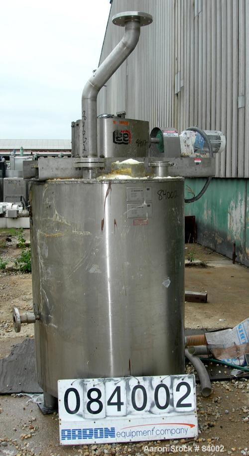 "USED: Lee Industries Processor/Kettle, 200 gallon, 304 stainless steel, vertical. 36"" diameter x 48"" straight side. Flat bol..."