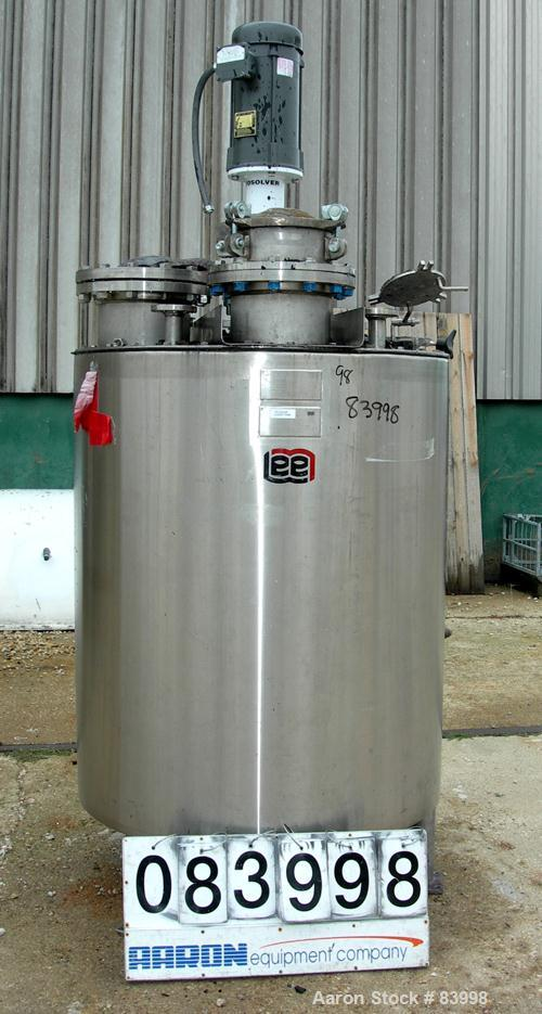 """USED: Lee Industries Kettle, 250 gallon, 304 stainless steel, vertical. 40"""" diameter x 48"""" straight side. Flat bolt on top, ..."""