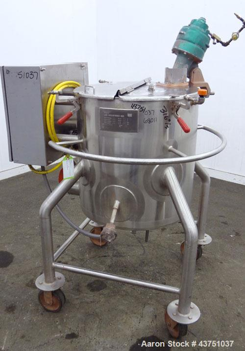 "Used- Lee Industries Electrically Heated Kettle, 25 Gallon, Model 25A, 316 Stainless Steel. 23"" Diameter x 20"" deep. Open to..."