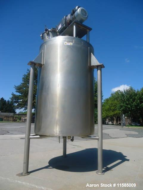 "Used-Lee 300 Gallon Stainless Steel Double Motion Kettle.  44"" Diameter x 51"" straight side and 90"" overall height including..."