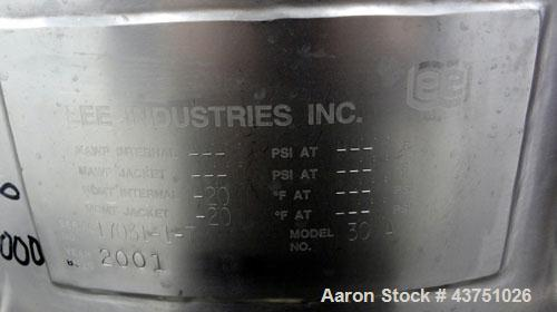 """Used- Lee Industries Electrically Heated Kettle, 30 Gallon, Model 30A, 316 Stainless Steel. 23"""" Diameter x 23"""" deep. Open to..."""
