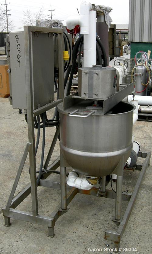 """USED: Lee Industries double motion kettle, model 30D9MT, 30 gallon, 304 stainless steel, vertical. Approximately 23"""" diamete..."""