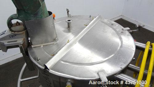 """Used- Lee Industries Electrically Heated Kettle, 30 Gallon, Model 30SSA, 316 Stainless Steel. 23"""" Diameter x 23"""" deep. Open ..."""