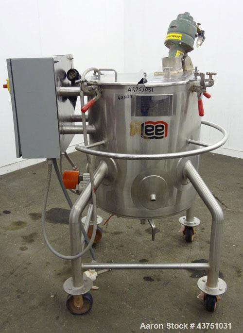 "Used- Lee Industries Electrically Heated Kettle, 30 Gallon, Model 30SSA, 316 Stainless Steel. 23"" Diameter x 23"" deep. Open ..."