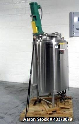 "Used- Lee Industries Kettle, 400 Liter, Model 400 LU. Stainless steel construction approximately 30"" diameter x 36"" straight..."