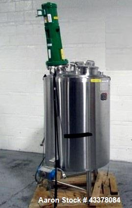 """Used- Lee Industries Kettle, 400 Liter, Model 400 LU. Stainless steel construction approximately 30"""" diameter x 36"""" straight..."""