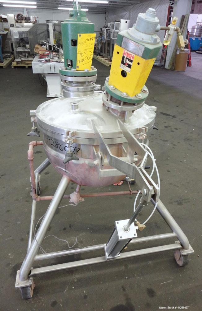 Used- Stainless Steel Lee Industries Dual Agitated Kettle, Model 40D