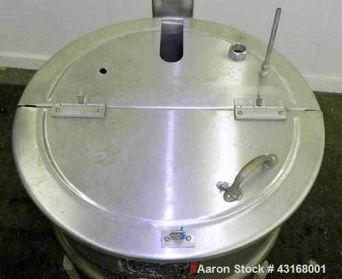 Used- 40 Gallon Stainless Steel Lee Metal Products Kettle, Model 40DBT
