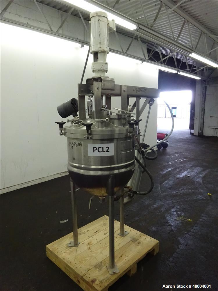 Used- Lee Kettle, 40 Gallon, Model 40GALD7T, 316 Stainless steel, Vertical.