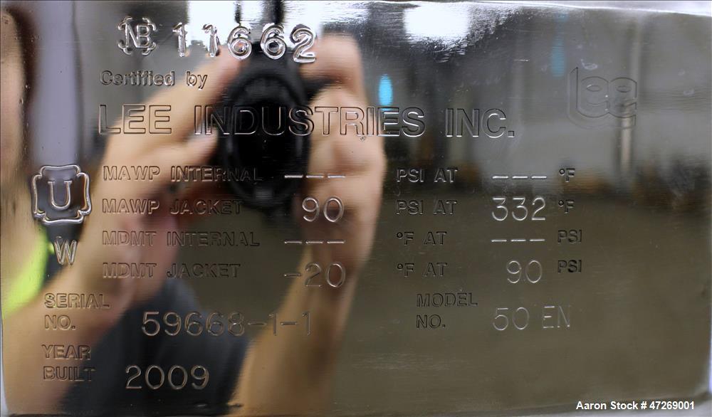 Unused- Lee Industries Kettle, Model 50 EN, 50 Gallon, 316 Stainless Steel, Vert
