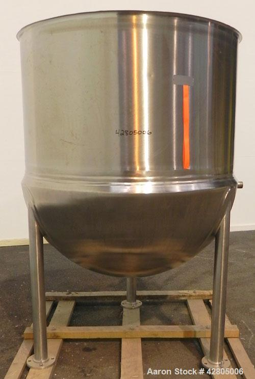 Used- Lee Industries Kettle, 500 Gallon, Model 500D, 316 Stainless Steel, Vertical. 56'' Diameter x 61'' deep. Open top, no ...