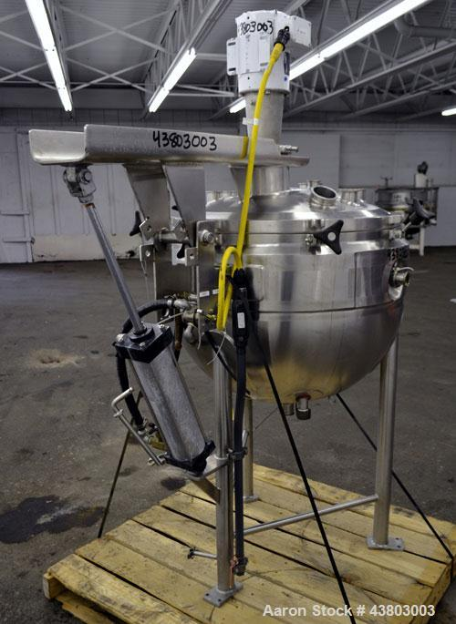 """Used- Lee Industries Vacuum Kettle, Model 50D, 50 Gallon, 316L Stainless Steel, Vertical. Approximately 30"""" diameter x 23"""" d..."""