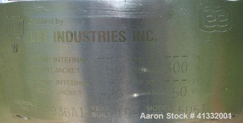 """Used- Lee Industries Kettle, 5 Gallons, Model 5D5T, 316 Stainless Steel, Vertical. 16"""" diameter x 10"""" deep, jacketed hemi bo..."""