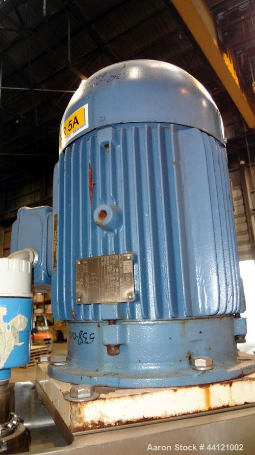 "Used- Lee Industries Kettle, 60 Gallon, Model 60D, 316 Stainless Steel, Vertical. 32"" Diameter x 30"" deep. Open top with (2)..."