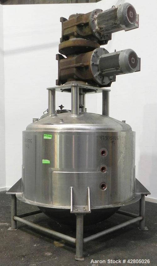 Used- Lee Industries Kettle/Reactor, 660 Gallon, Model 660 D9MS, 316 Stainless Steel, Vertical. 66'' Diameter x 60'' deep. D...