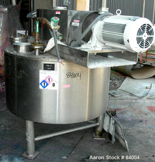 "USED: Lee Industries Processor/Kettle, 75 gallon, 304 stainless steel, vertical. 42"" diameter x 20"" straight side. Flat bolt..."