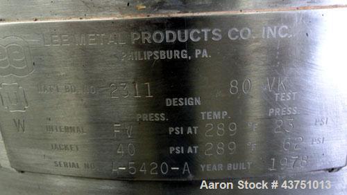 Used- 80 Gallon Stainless Steel Lee Industries Vacuum Kettle, Model 80VK