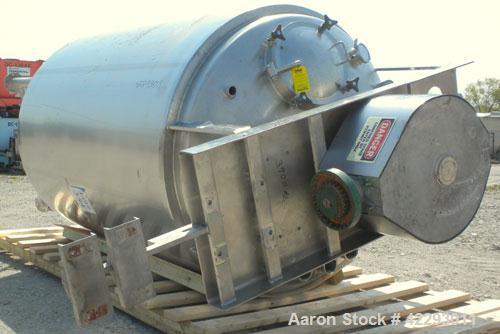 "Used- Lee Industries Double Motion Vacuum Kettle, model 850U9MS, 850 gallon, 316L stainless steel, vertical. 66"" diameter x ..."