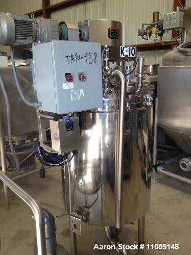Used- Lee 100 Gallon Double Motion, Jacketed, Mix Kettle. Rated 30 PSI at 250 deg.F. shell and 100 PSI at 338 deg.F. Jacket....