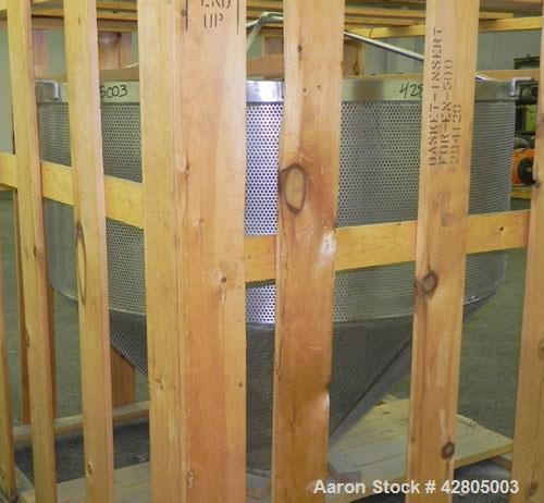 Used- Stainless Steel Lee/Groen Perforated Basket Insert