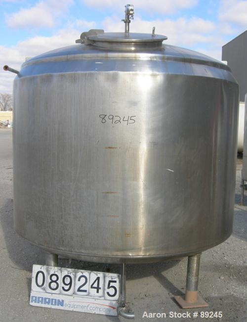 "Used- Lee Kettle, 1500 Gallon, Model 1500UBDT, 316 Stainless Steel, Vertical. 84"" diameter x 60"" straight side. Dished top a..."