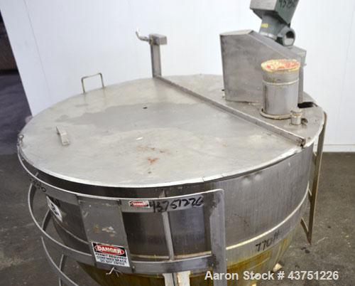 "Used- Lee Metal Products Kettle, 250 Gallon, 304 Stainless Steel, Vertical. Approximately 52"" diameter x 39"" deep. Open top ..."
