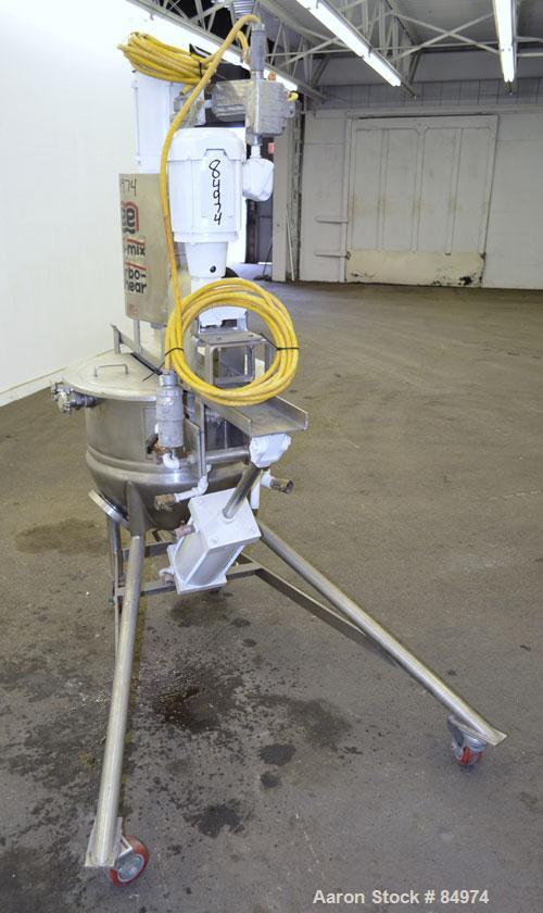Used- 25 Gallon Stainless Steel Lee Metal Products Tri-Mix Turbo-Shear Kettle, Model 25D12T