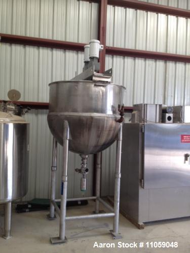 Used- 350 Gallon Sanitary Lee Double Motion Kettle, Model 350D