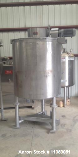 Used- 600 Gallon Sanitary Lee Double Motion Jacketed Kettle, Model 600U9MS