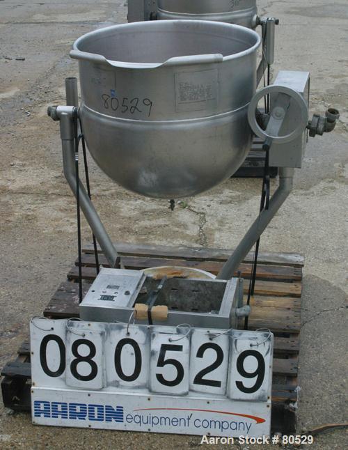 "USED: Legion Industries steam heated kettle, model TWP-40, 40 gallon, 316 stainless steel, vertical. 25-1/2"" diameter x 21"" ..."