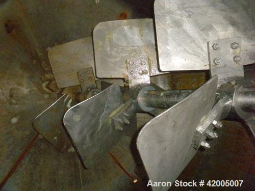 "Used- Martin Petersen Kettle, 3000 Gallon, 304 Stainless Steel, Vertical. 96"" diameter x 96"" straight side, flat bolt on top..."